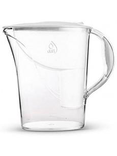 Jarro para filtrar água ATRIA c/ 2 filtros branco