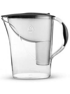 Jarro para filtrar água ATRIA c/ 2 filtros preto