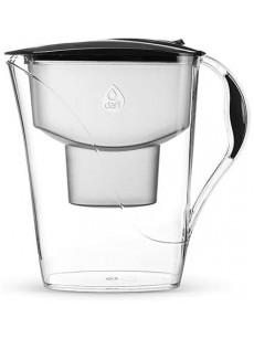 Jarro para filtrar água LUNA c/ 2 filtros preto