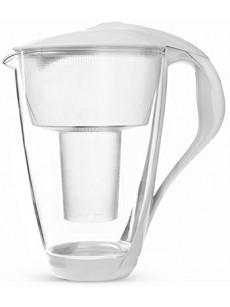 Jarro para filtrar água CRYSTAL c/ 2 filtros branco