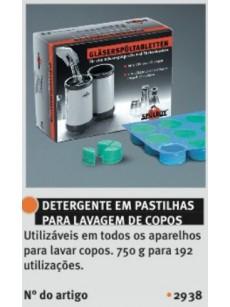 DETERGENTE EM PASTILHAS PARA LAVAGEM DE COPOS -  48 Pastilhas duplas de Lavagem de Copos - 750 gr.